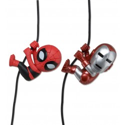 Marvel Comics Scalers Pack de 2 Minifiguras Iron Man y Spiderman exclusiva de SDCC 2014