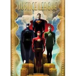DC Comics Metal Poster Justice League Retro Idols
