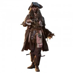 Piratas del Caribe La Venganza de Salazar Figura Movie Masterpiece DX 1/6 Jack Sparrow