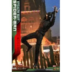 Spider-Man: Lejos de casa Figura MM 1/6 Spider-Man (Stealth Suit) Deluxe Version