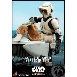 Star Wars The Mandalorian Action Figure 1/6 Scout Trooper & Speeder Bike