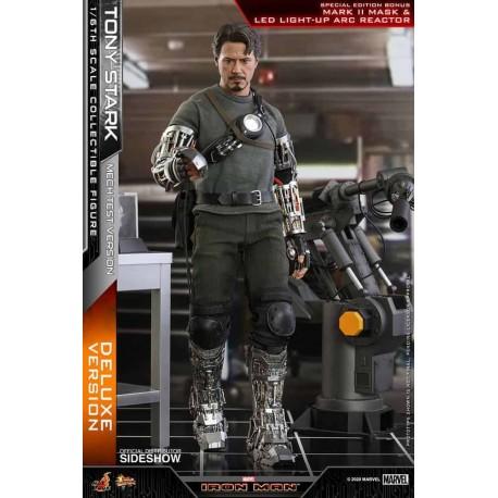Iron Man Figura Movie Masterpiece 1/6 Tony Stark (Mech Test Deluxe Version)
