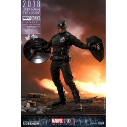 Marvel MMS Action Figure 1/6 Capitán América Concept Art 2018 Toy Fair Exclusive