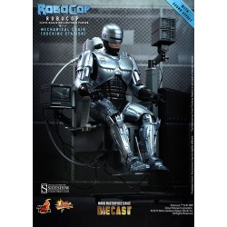 RoboCop Figure Movie Masterpiece Diecast 1/6 RoboCop with Mechanical Chair
