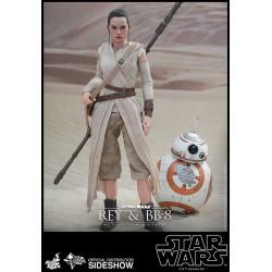 Star Wars Episodio VII Pack de 2 Figuras Movie Masterpiece 1/6 Rey y BB-8