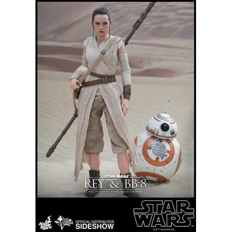 Star Wars Episode VII Pack de 2 Figures Movie Masterpiece 1/6 Rey & BB-8