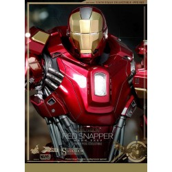 Iron Man 3 Figura Power Pose Series 1/6 Iron Man Mark XXXV Red Snapper