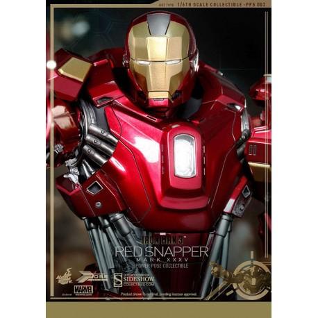 Iron Man 3 Figure Power Pose Series 1/6 Iron Man Mark XXXV Red Snapper