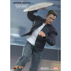 Captain America 2 Pack of Figure Movie Masterpiece 1/6 Captain America & Steve Rogers